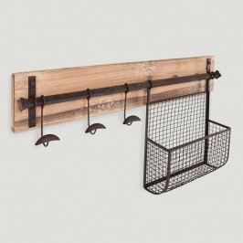 Wood and Metal Entryway Wall Storage by World Market