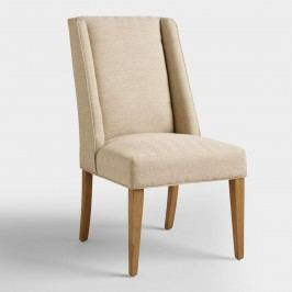 Khaki Herringbone Lawford Dining Chairs: Natural by World Market