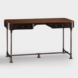 Wood and Metal Industrial-Style Desk by World Market