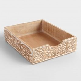 Hand-Carved Wood Gianna Paper Tray by World Market