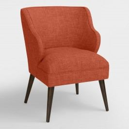 Audin Upholstered Chair: Brown - Fabric - Cobblestone by World Market Cobblestone