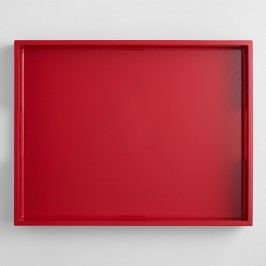 Red Rectangular Lacquer Serving Tray by World Market