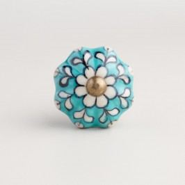 Turquoise Ceramic Knobs, Set of 2 by World Market