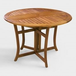 Round Wood Danner Folding Table: Brown by World Market