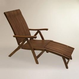 Wood Catania Steamer Lounger: Brown by World Market