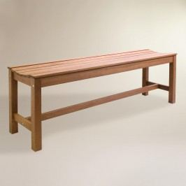 Wood Galena Backless Bench: Brown by World Market