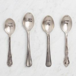 Hand Stamped Teaspoons, Set of 4 by World Market