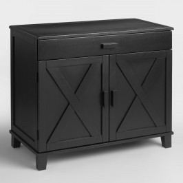 Antique  Black Verona Cabinet Desk by World Market