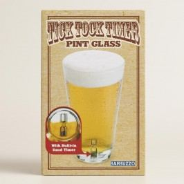 Tick Tock Timer Pint Glass by World Market