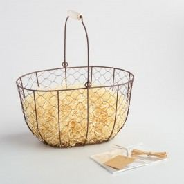 Oval Rustic Wire Basket Kit by World Market