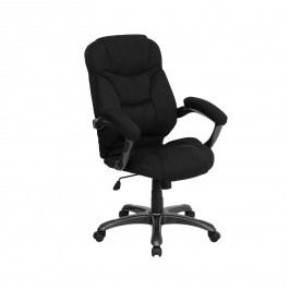 High-Back Microfiber Upholstered Contemporary Office Chair